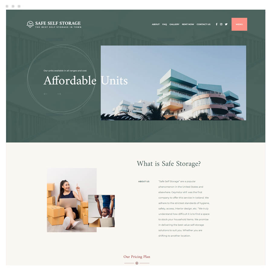 Startup Agency and SasS Business Template